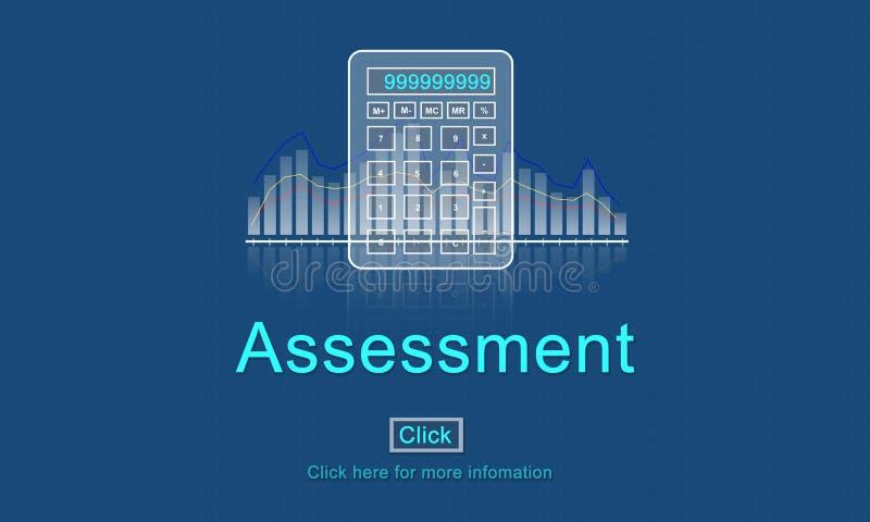 Oceny rewizi cenienia kontrola zarządzania pojęcie ilustracja wektor