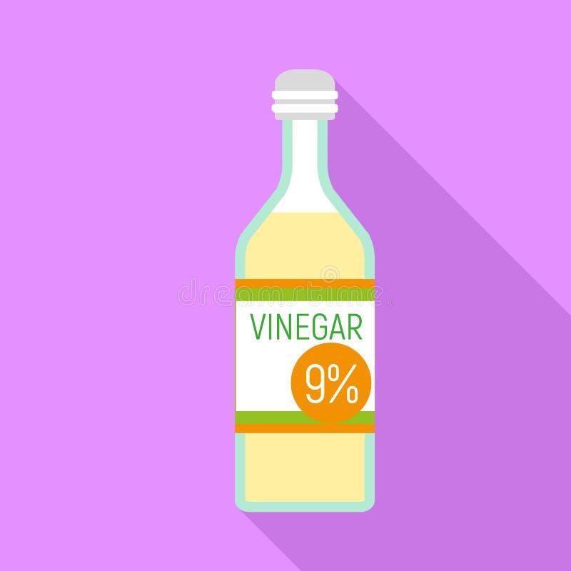 Ocet butelki ikona, mieszkanie styl ilustracji