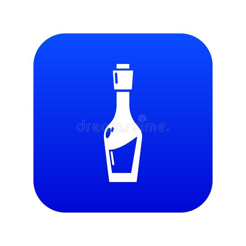 Ocet butelki ikony błękita wektor ilustracji