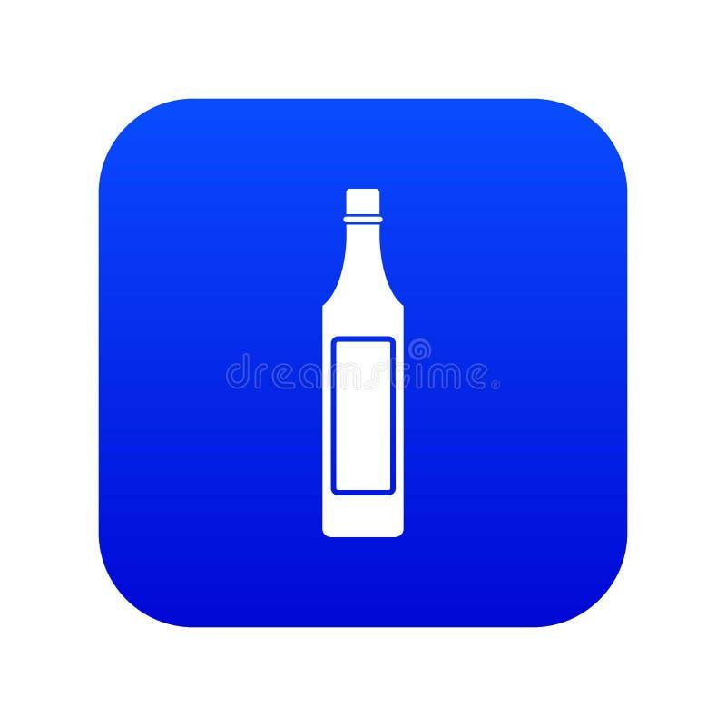Ocet butelki ikony cyfrowy błękit ilustracja wektor