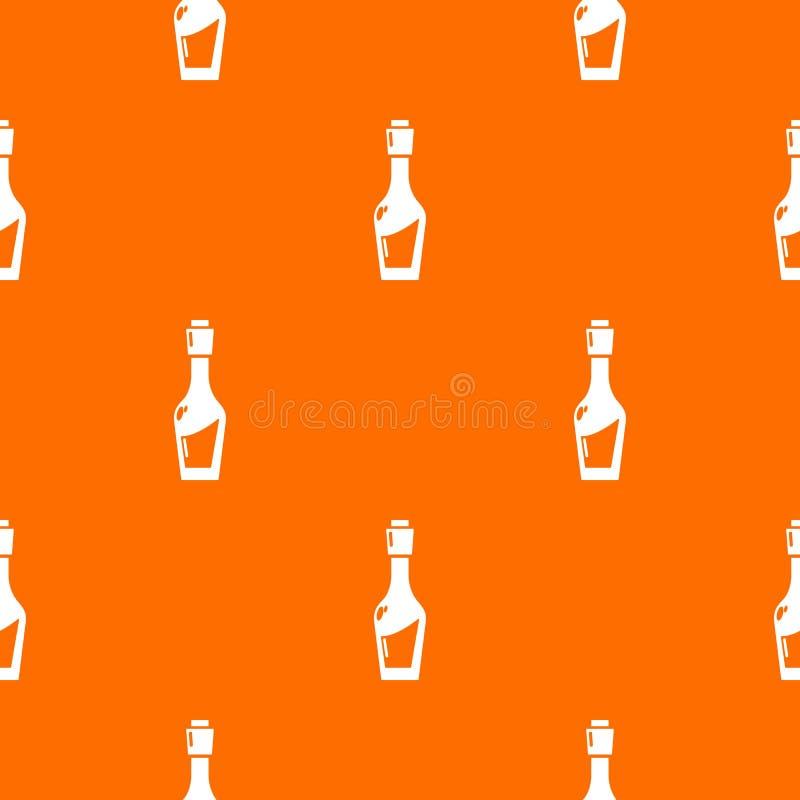Ocet butelki wzoru wektoru pomarańcze royalty ilustracja