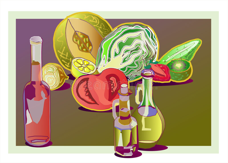 ocet oleju ilustracji