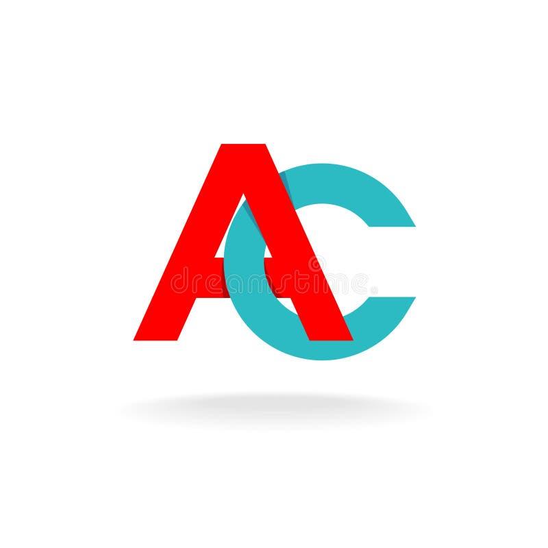 A- och c-bokstavslogo royaltyfri illustrationer