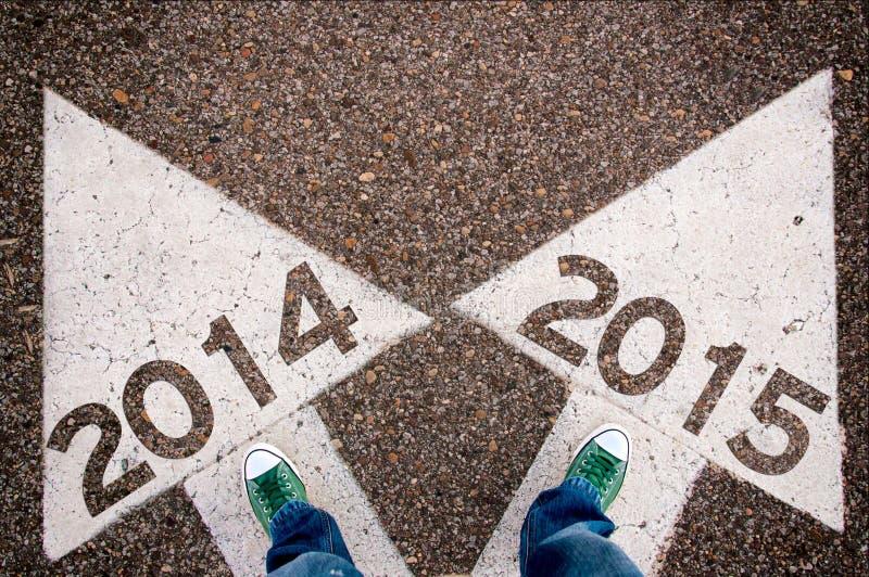2014 och 2015 sig arkivfoto