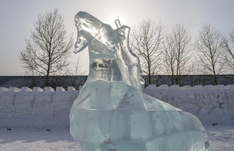 Is- och sn?skulptur i Harbin, Kina arkivfoton