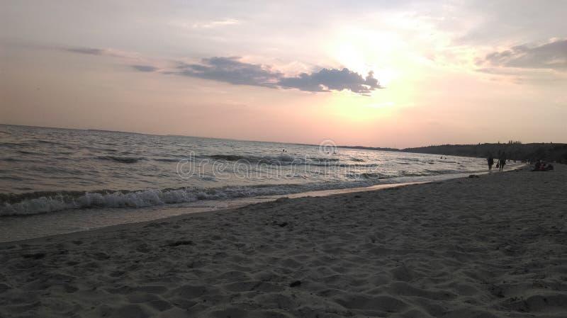 Ochacov w zimy wybrzeża mola plaży zdjęcia stock