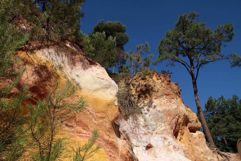 Download Ocher cliffs of Roussillon stock image. Image of clay - 16303781
