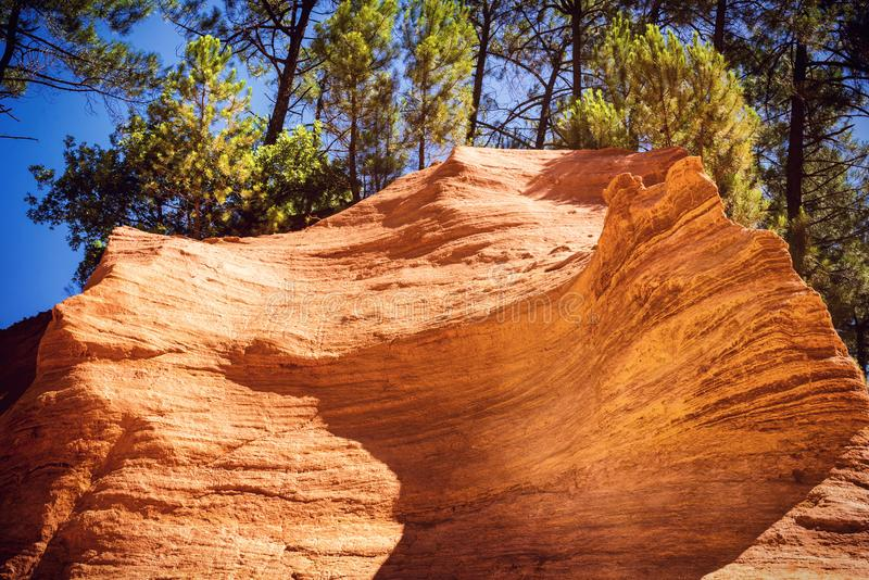 Ocher quarries. In Roussillon Provence, France stock photography