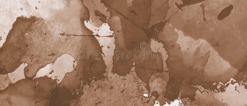 Ocher watercolor pattern background. Abstract design.  stock illustration
