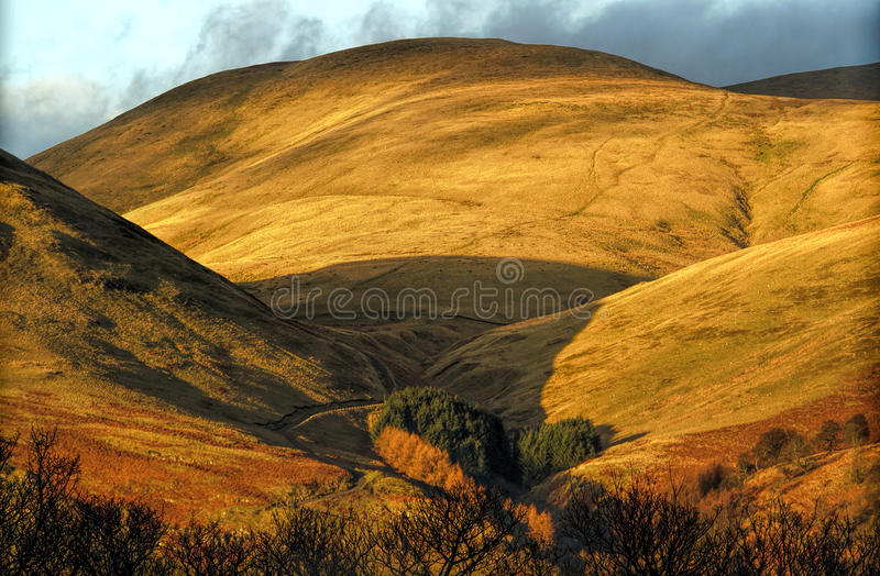 The Ochil Hills in Scotland stock photos