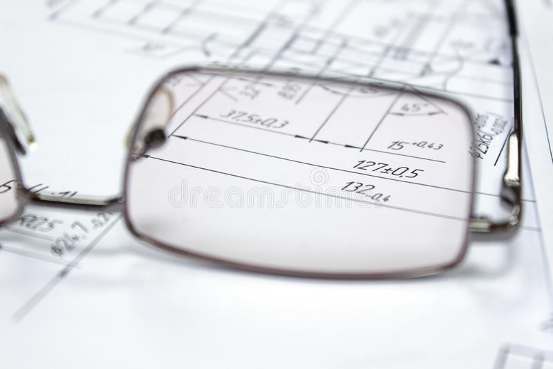 Ochki, glasses, очки stock image