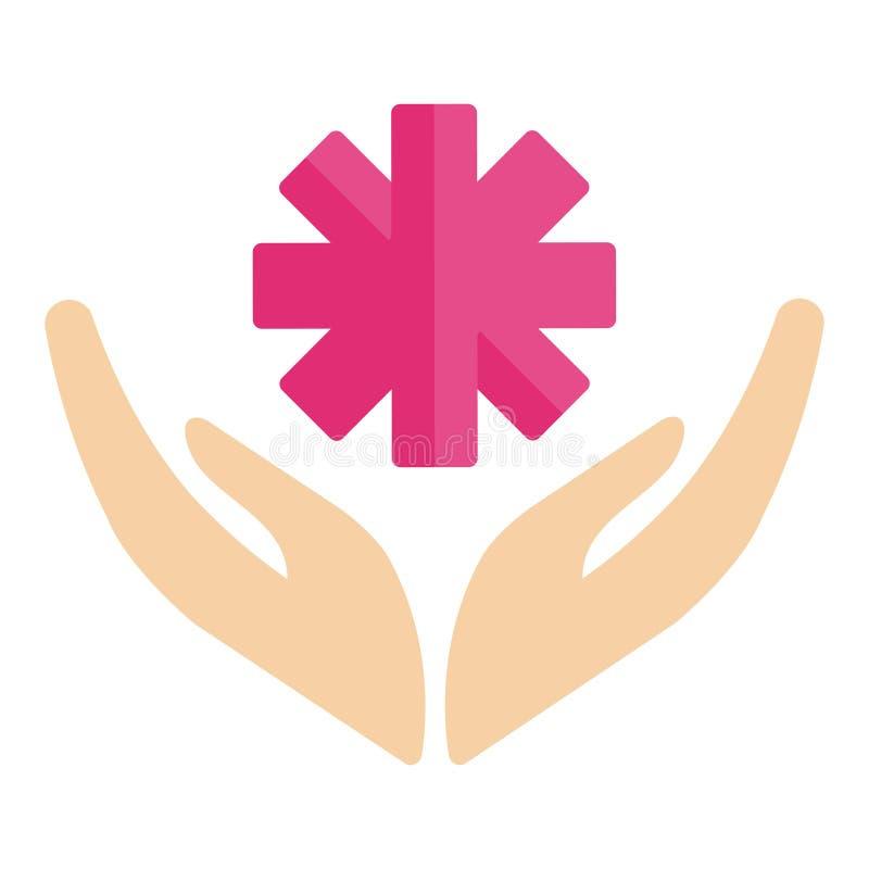 Ochotniczej ikony dobroczynności darowizny świadomości ręki nadziei pomocy wektorowy humanitarny poparcie ilustracji