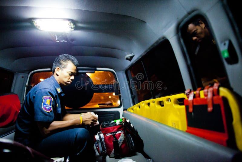Ochotniczy EMTs obrazy royalty free