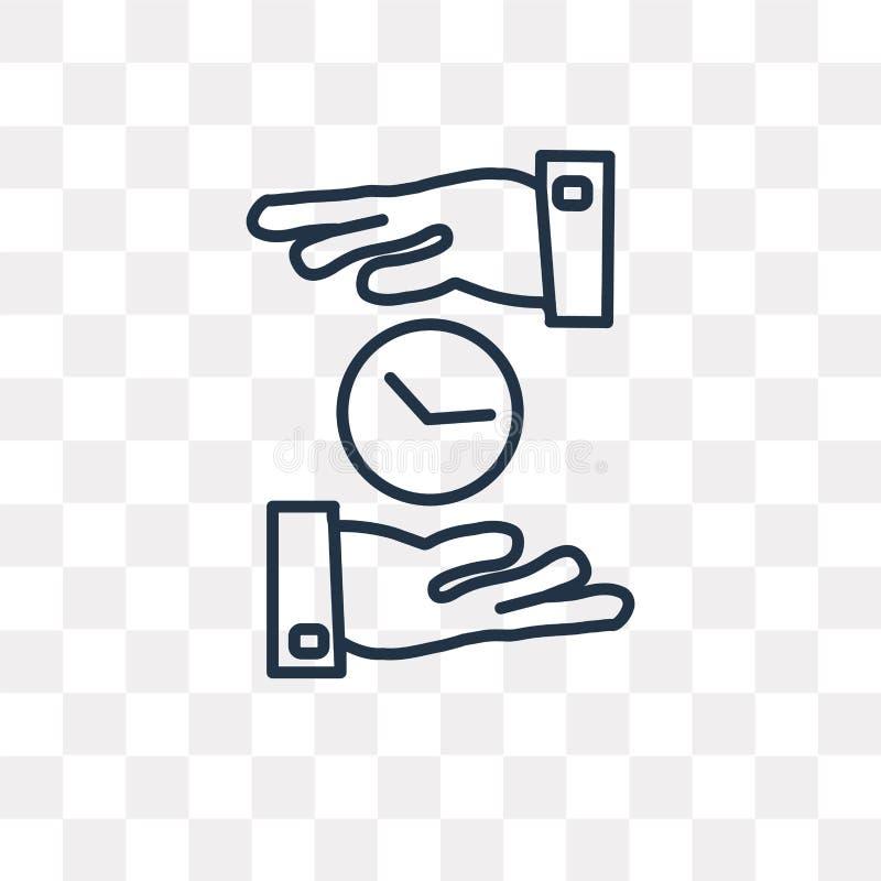 Ochrania wektorową ikonę odizolowywającą na przejrzystym tle, liniowy P ilustracji