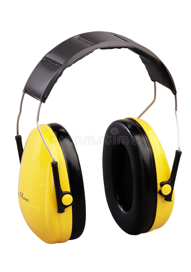 ochraniacze słuchu zdjęcia stock