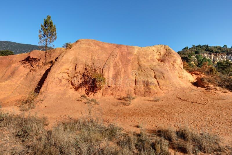 Ochres of Colorado Provencal - Rustrel - Provence - France. Ochre quarries of the Colorado Provencal in Rustrel - Vaucluse - Provence - France stock photos