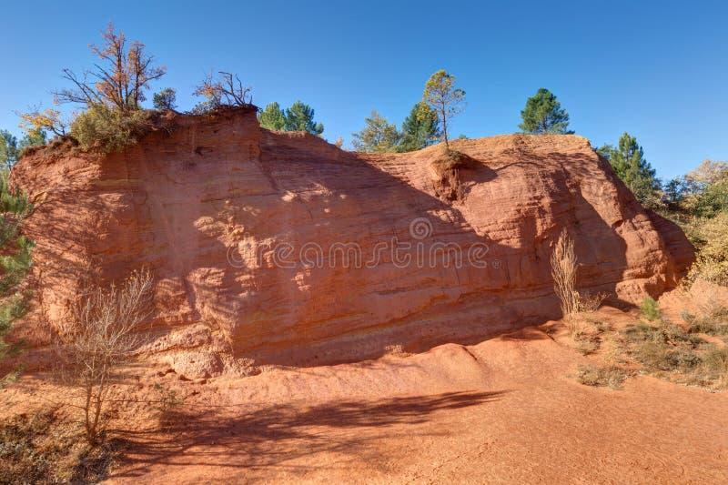 Ochres of Colorado Provencal - Rustrel - Provence - France stock photo