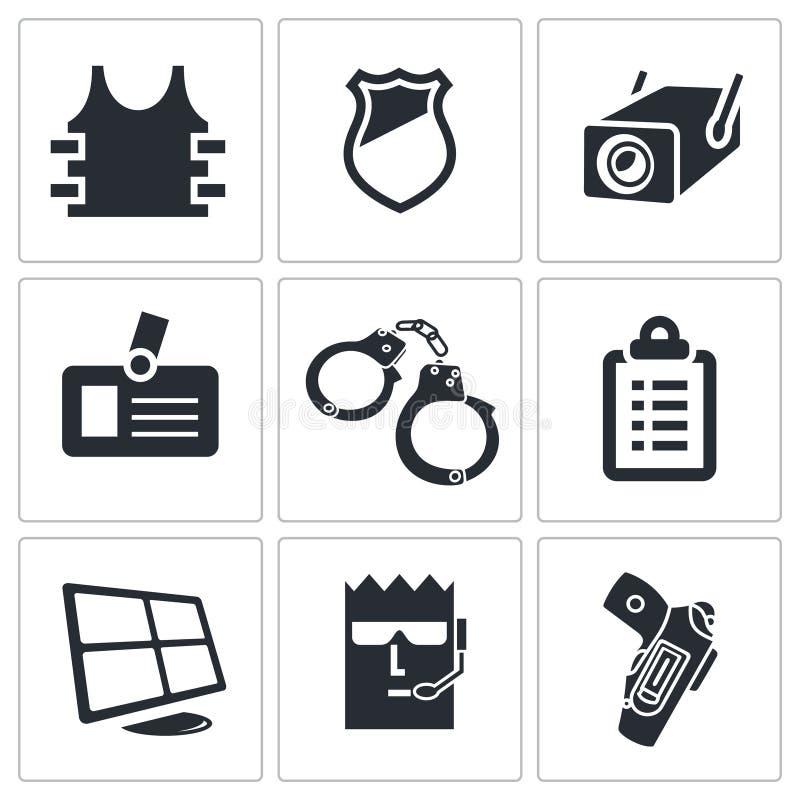 Ochron ikony ustawiać royalty ilustracja