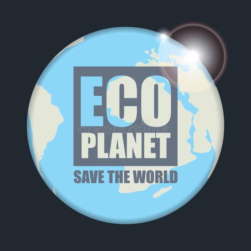 Ochrona środowiska i ekologia planeta ilustracja wektor