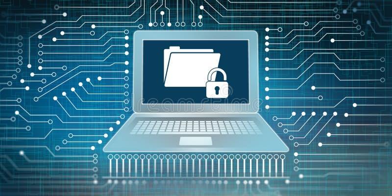 Ochrona danych i sieci związku pojęcie royalty ilustracja