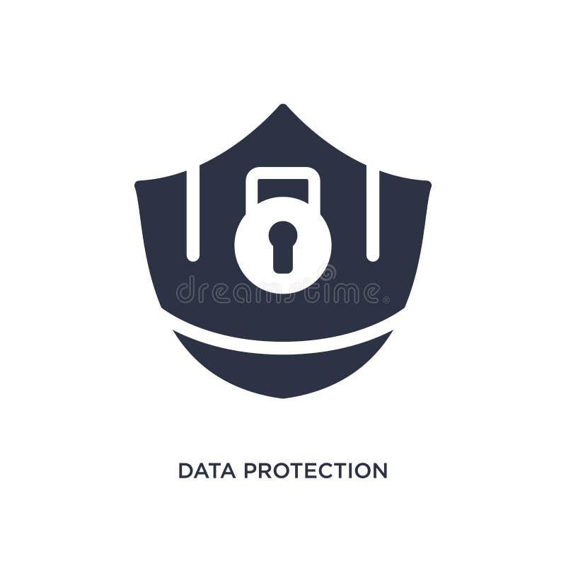 ochrona danych ikona na białym tle Prosta element ilustracja od gdpr pojęcia ilustracja wektor