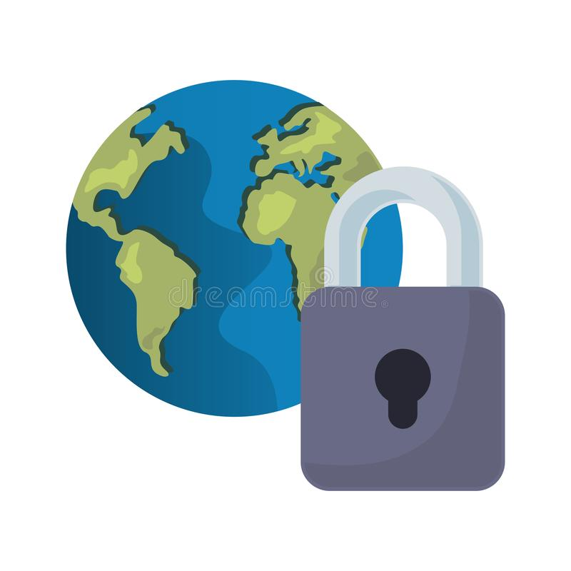 Ochrona danych technologia royalty ilustracja
