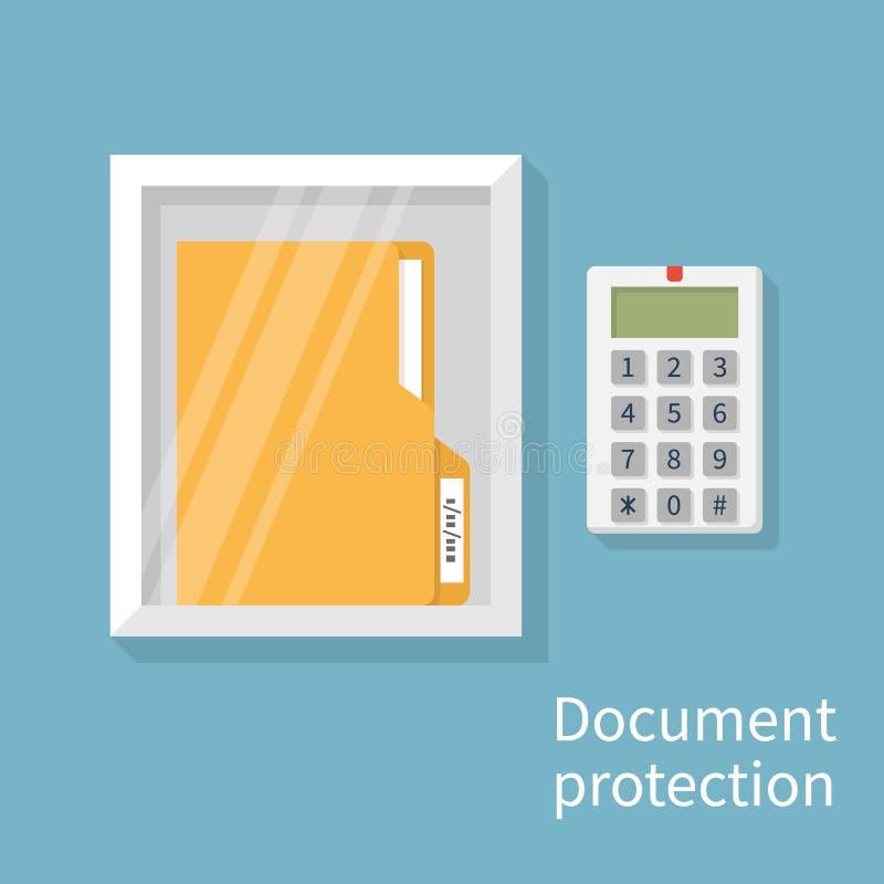 Ochrona dokument, pojęcie royalty ilustracja