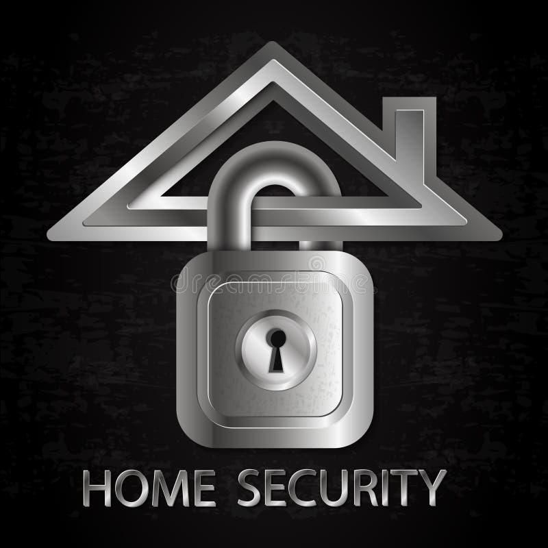 Ochrona domowy symbol ilustracja wektor
