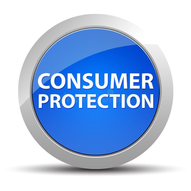 Ochrona Konsumentów round błękitny guzik ilustracji