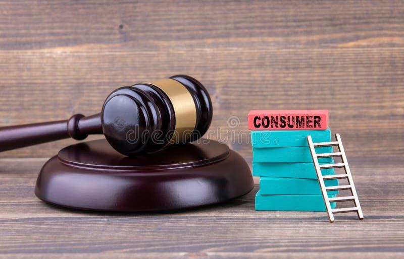 Ochrona konsumentów, sprawiedliwość i prawa pojęcie, zdjęcia stock