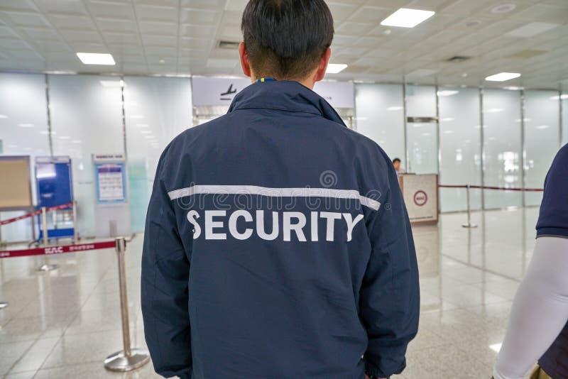 Ochrona lotniska personel zdjęcie royalty free
