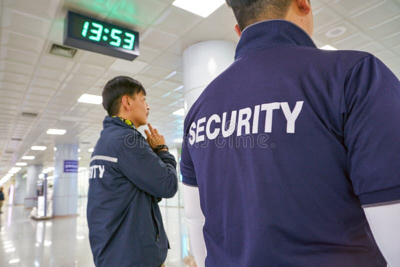 Ochrona lotniska personel obraz stock