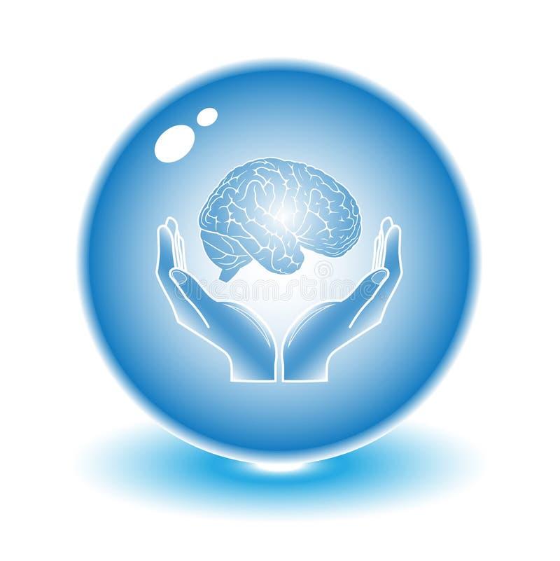ochrona mózgu ilustracji