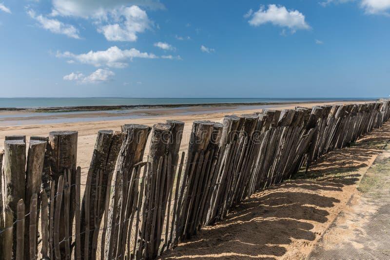 Ochrona na Generelles plaży obraz royalty free