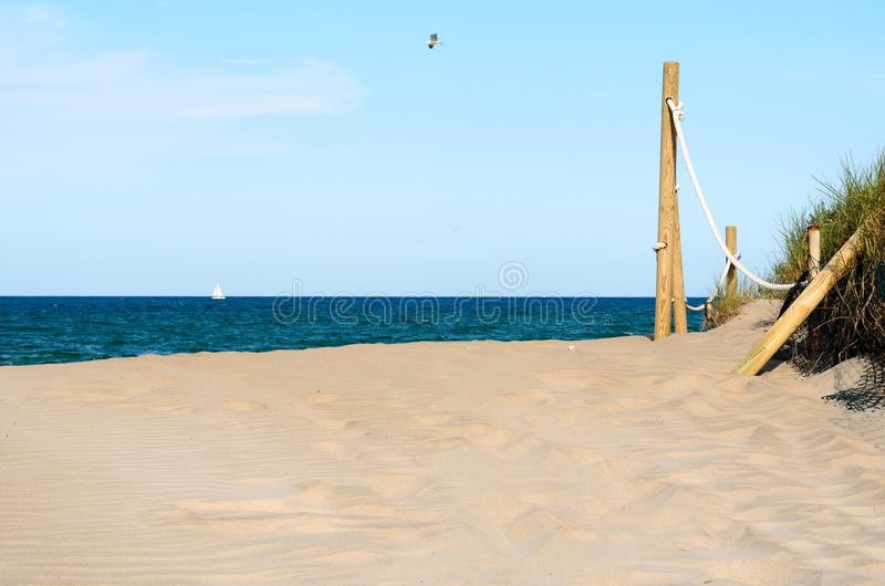 Ochrona na plaży obrazy royalty free