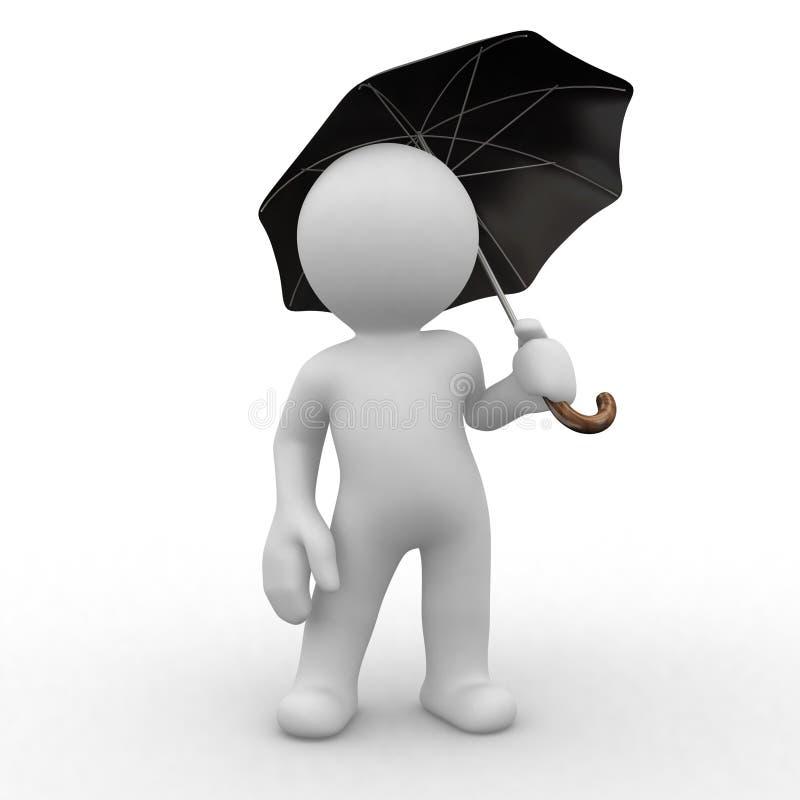 ochrona parasolkę ilustracja wektor