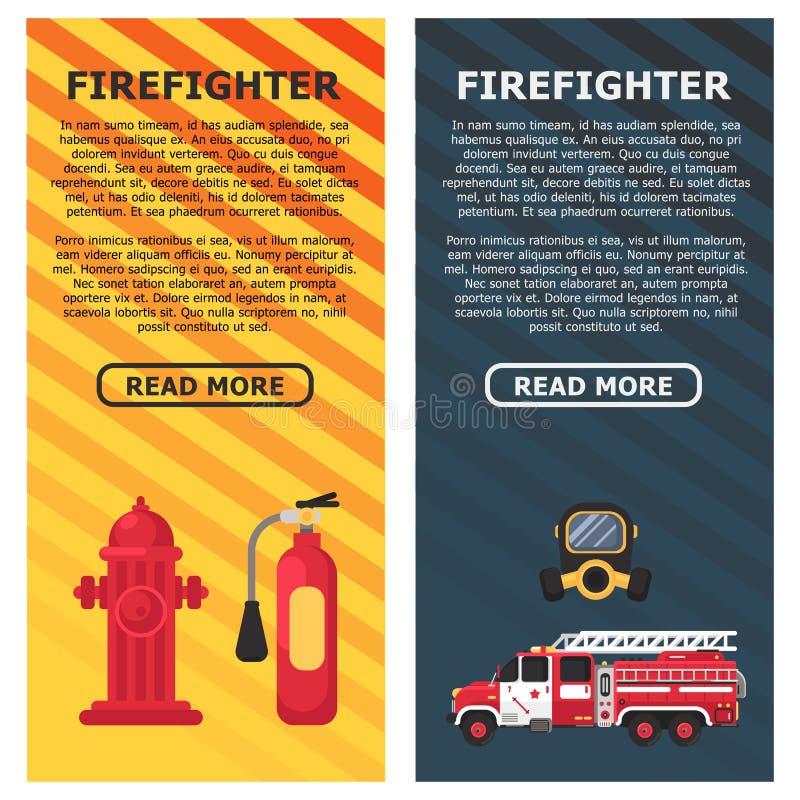 Ochrona przeciwpożarowa Bezpieczeństwo przeciwpożarowe Gaśnica skierowana na pożar Płaska konstrukcja grafiki wektorowej Miejsce  ilustracja wektor