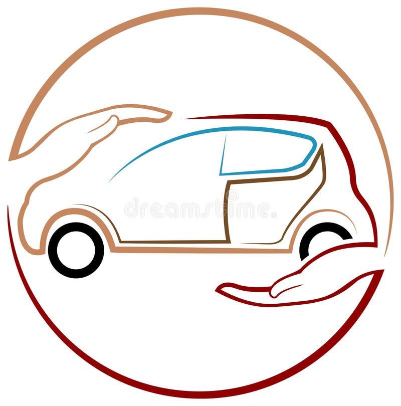 Ochrona samochód ilustracja wektor
