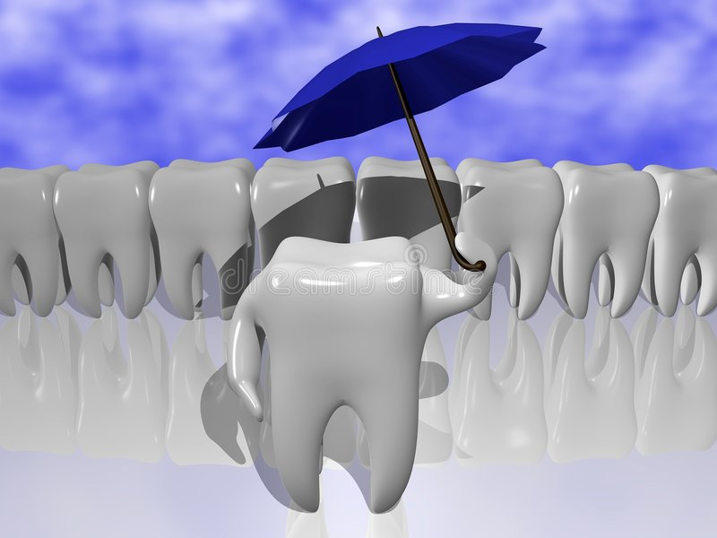 ochrona ząb ilustracji