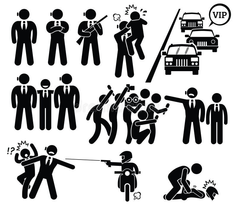 Ochroniarz Clipart ilustracji