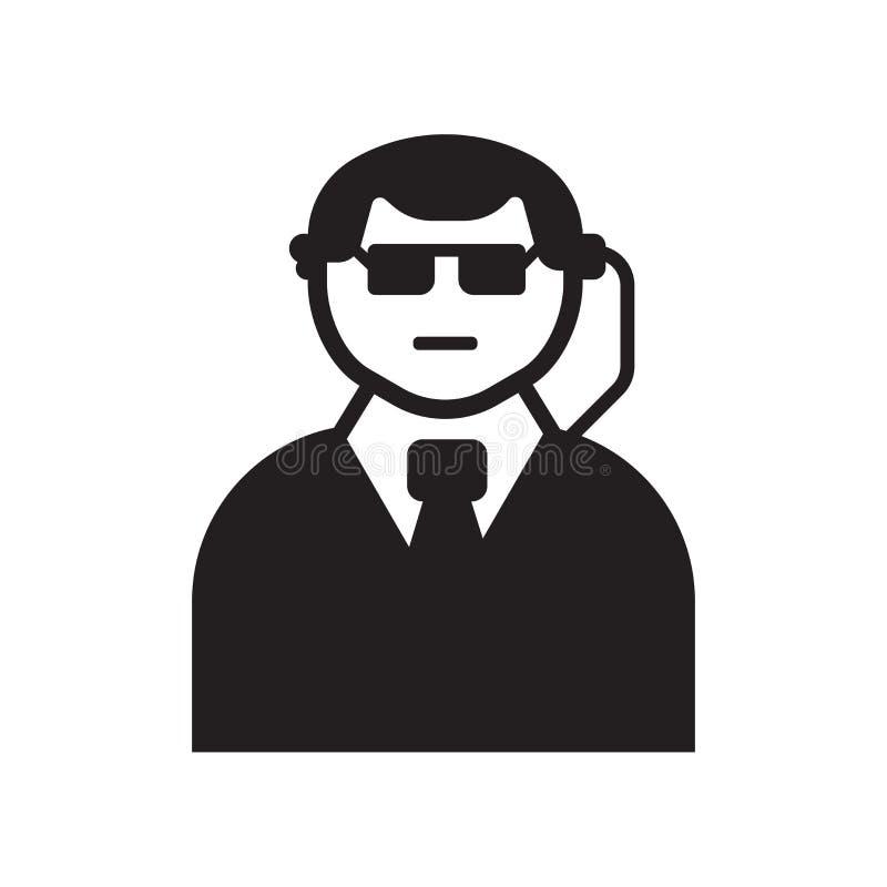Ochroniarz ikona Modny ochroniarza logo pojęcie na białym backgroun ilustracji