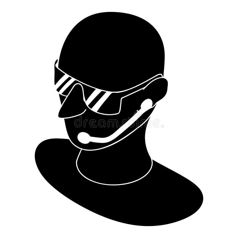 Ochroniarz ikona, prosty styl royalty ilustracja