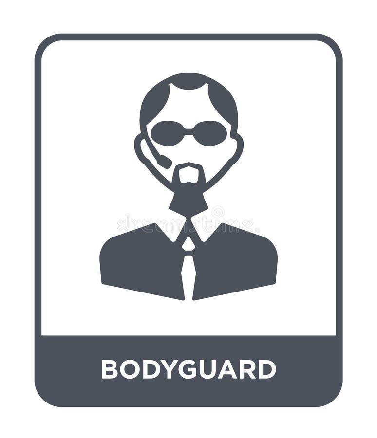 ochroniarz ikona w modnym projekta stylu ochroniarz ikona odizolowywająca na białym tle ochroniarz wektorowej ikony prosty i nowo royalty ilustracja