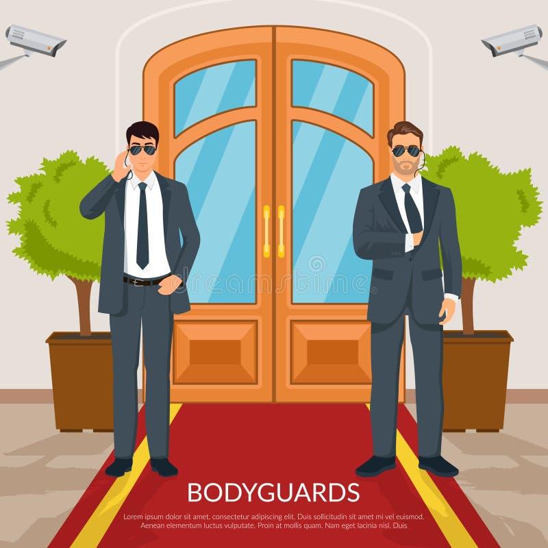 Ochroniarz Przy drzwiami Ilustracyjnymi ilustracji