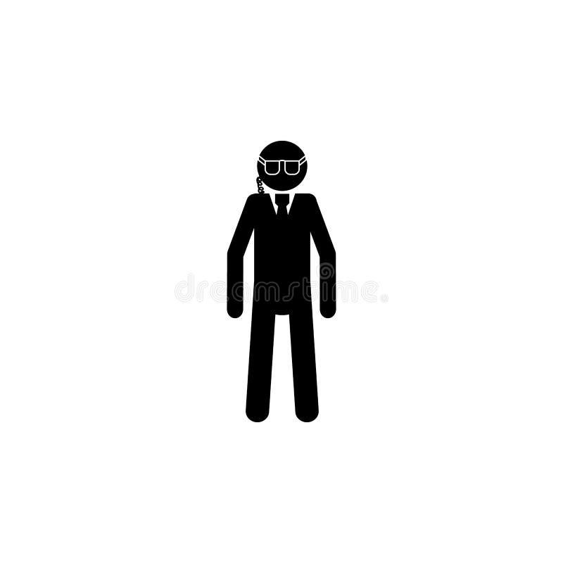 Ochroniarz sylwetki ikona Specjalna obsługa elementu ikona Premii ilości graficznego projekta ikona Zawodów znaki, odosobneni sym ilustracji