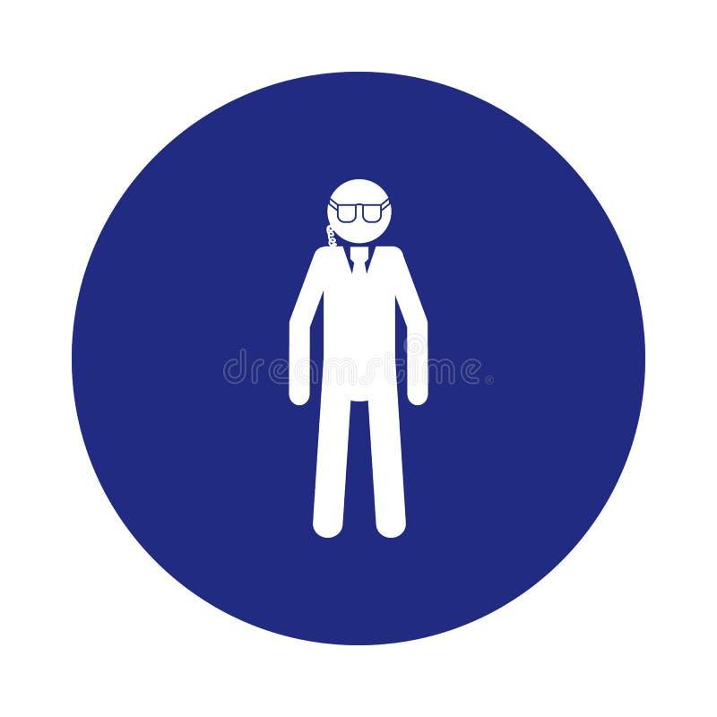 ochroniarz sylwetki ikona w odznaka stylu Jeden specjalnej obsługi inkasowa ikona może używać dla UI, UX ilustracja wektor