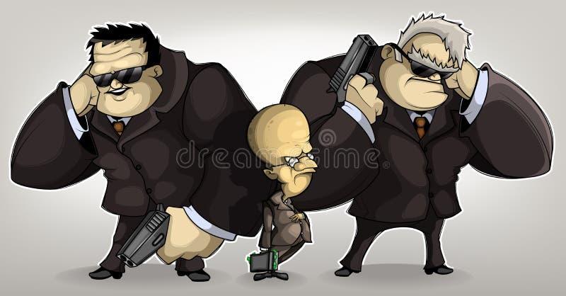 Ochroniarza potentat ilustracja wektor