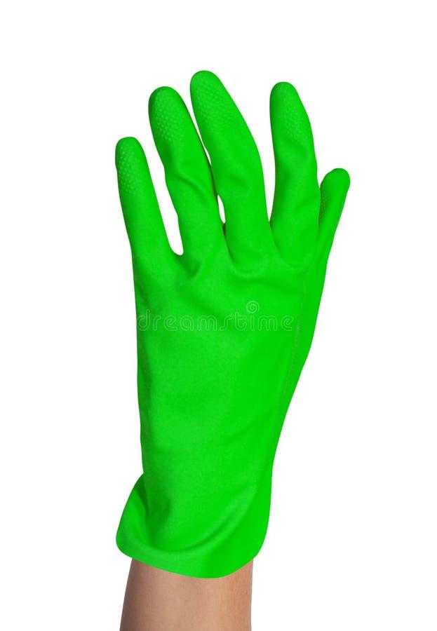 Ochronna gumowa rękawiczka obraz royalty free