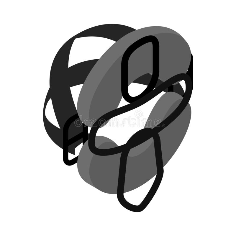 Ochronna maska dla baseball isometric 3d ikony royalty ilustracja