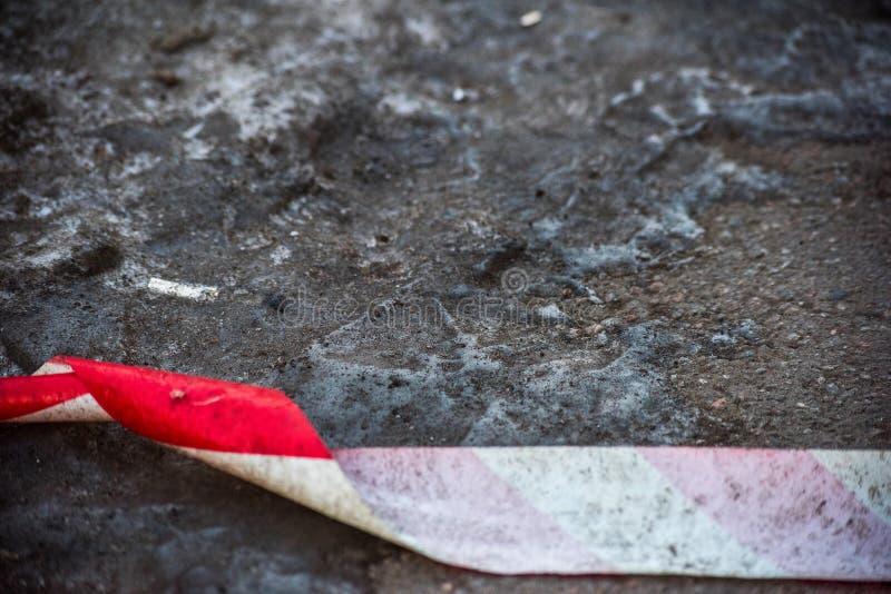 Ochronna taśma na lodzie zdjęcie stock
